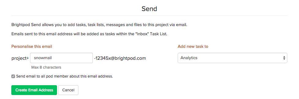 Brightpod send personalization